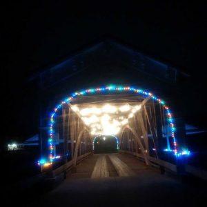 Covered Bridge illuminated