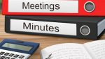 Binders with name Meeting Minutes