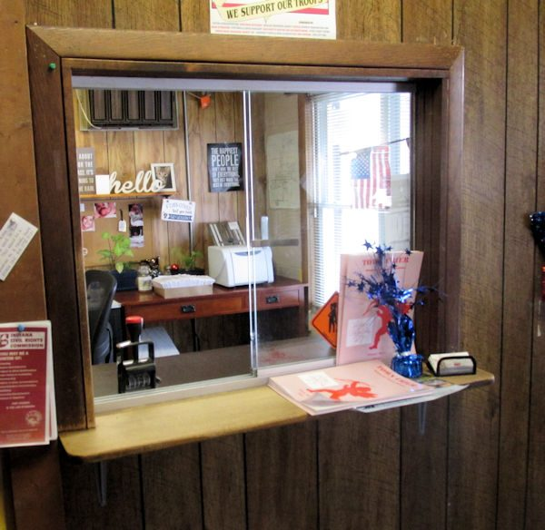 Photo of payment window at water office in Town Hall